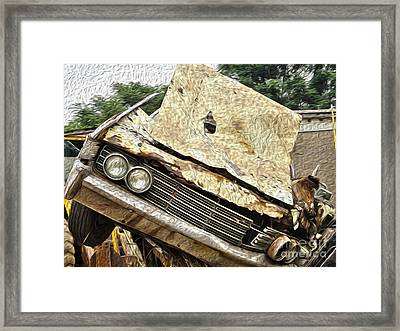 Tired And Broken Framed Print