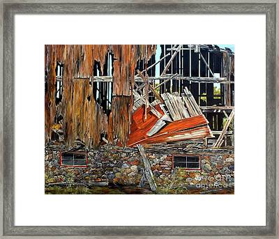 Tired And Retired Framed Print