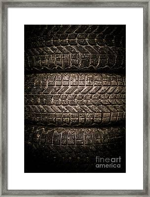 Tires Framed Print