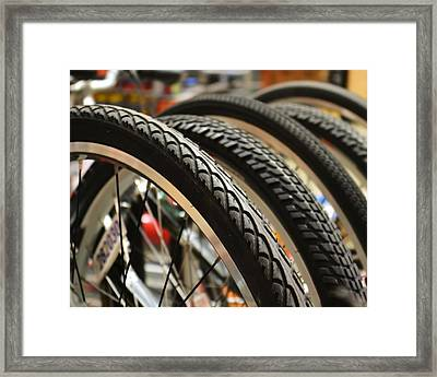 Framed Print featuring the photograph Tires by Mary Zeman