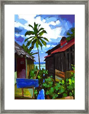 Tiririca Beach Shacks Framed Print by Douglas Simonson