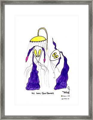 Tis Long Cold Shower Framed Print by Tis Art