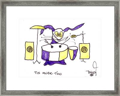 Tis Music Too - Ringo - Beatles Framed Print by Tis Art