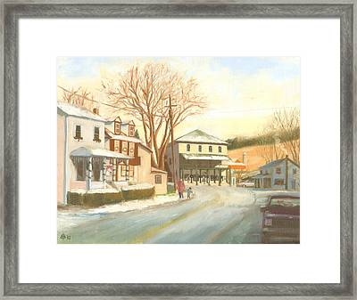 'tis The Season In Liberty Framed Print by Bibi Snelderwaard Brion