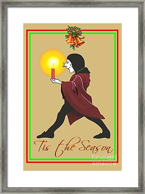 Tis The Season Xmas Card Framed Print by Michael Swanson
