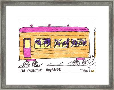 Tis Valentine Express Framed Print by Tis Art