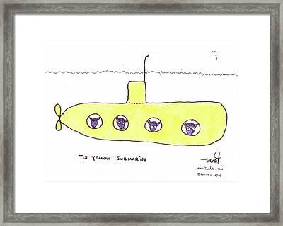Tis Yellow Submarine Framed Print by Tis Art