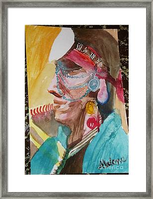 Water Healing Ceremonial Chief Yaz  Framed Print by Abelone Petersen