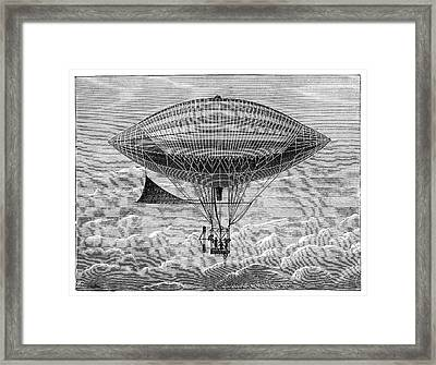 Tissandier Electric Airship Framed Print