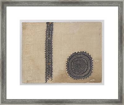 Tissue Fragment With Orbiculus And Clavus Framed Print by Quint Lox
