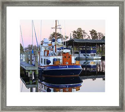 Titan Framed Print by Carolyn Ricks