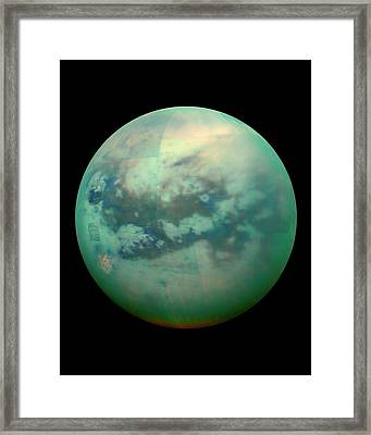 Titan From Space Framed Print