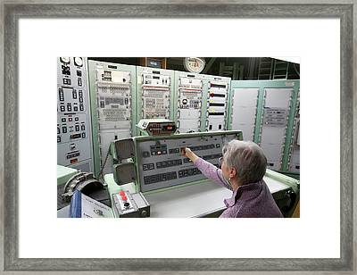 Titan Missile Control Room Framed Print by Jim West