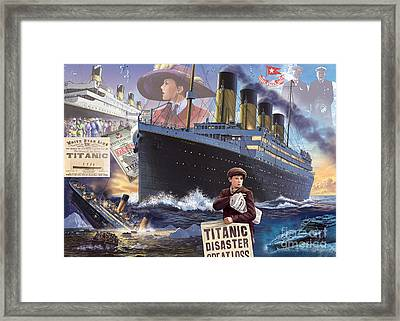 Titanic - Landscape Framed Print by MGL Meiklejohn Graphics Licensing