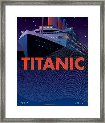 Titanic 100 Years Commemorative Framed Print by Leslie Alfred McGrath