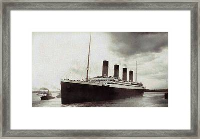 Titanic 1912 Vintage Framed Print by Dan Sproul