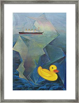 Titanic And The Ducky Framed Print
