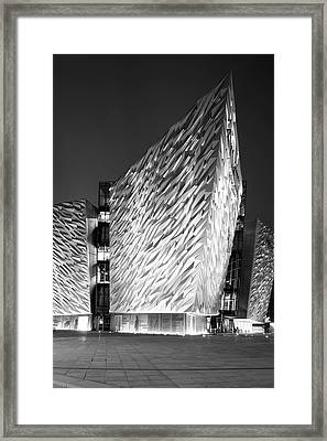 Titanic Belfast And Olympic Slipways Framed Print by Panoramic Images