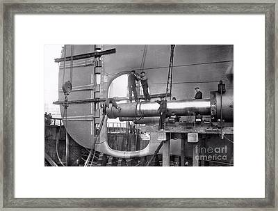 Titanic Construction Framed Print