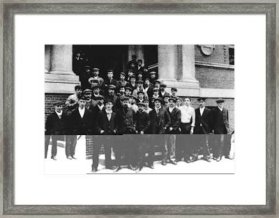 Titanic Crew Survivors Framed Print by Science Photo Library