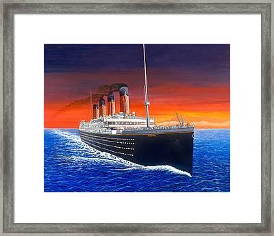 Titanic Framed Print by David Linton