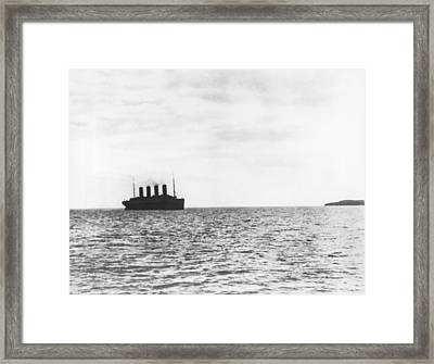 Titanic Departing Europe Framed Print by Underwood Archives