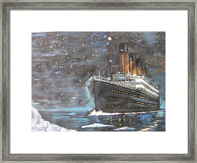 Framed Print featuring the painting Titanic Heading To Disaster by Vikram Singh