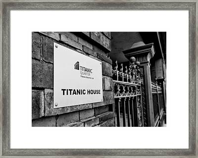 Titanic House Framed Print