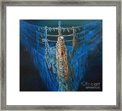 Titanic Immortality Framed Print by Ottilia Zakany