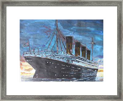 Titanic Into The Sunset Framed Print by Vikram Singh