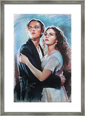 Titanic Jack And Rose Framed Print