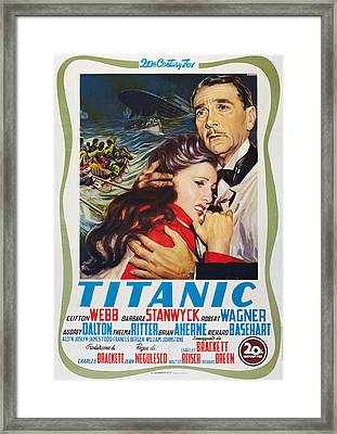 Titanic, L-r Barbara Stanwyck, Clifton Framed Print by Everett
