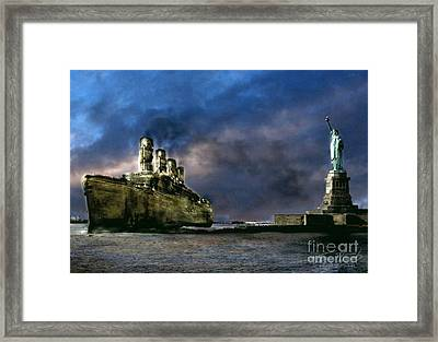 Titanic Late Arrival Framed Print by Tom Straub