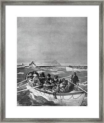 Titanic Lifeboat, 1912 Framed Print