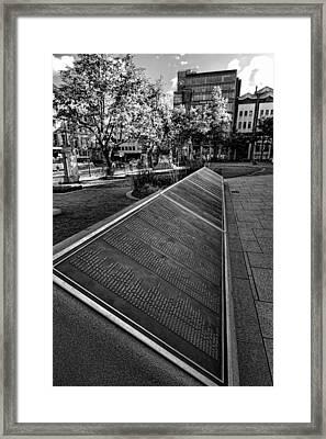 Titanic Memorial Garden Framed Print