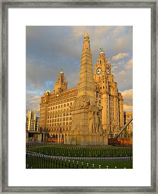 Titanic Memorial Liverpool Uk Framed Print