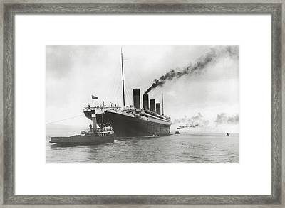 Titanic Ready For Her Maiden Voyage Framed Print by English Photographer