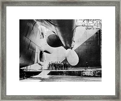 Titanic Ready For Launch Framed Print by Library Of Congress