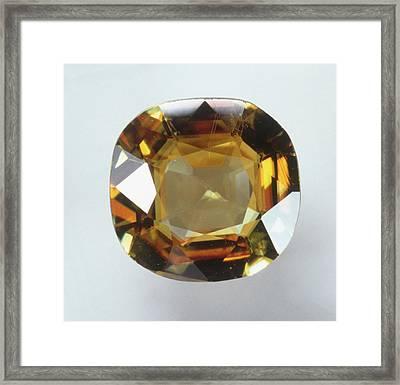 Titanite Gemstone Framed Print by Dorling Kindersley/uig