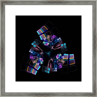 Titanium Crystals Framed Print by Lea Wiggins