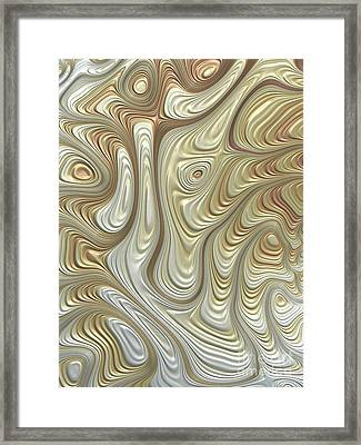 Titanium Flow Framed Print by John Edwards