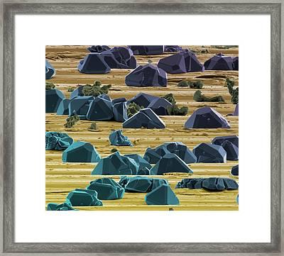 Titanium Micro-crystals Framed Print