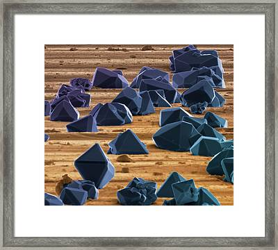 Titanium Microcrystals Framed Print by Science Photo Library