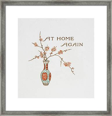 Title And A Vase Framed Print by British Library