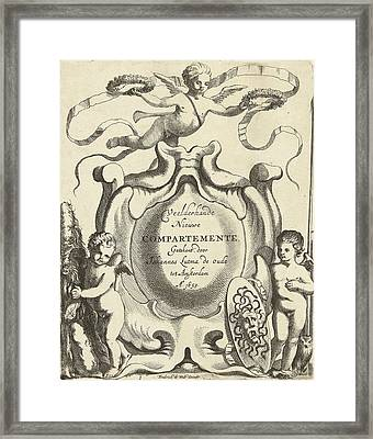 Title Journal Veelderhande Nieuwe Compartemente Framed Print by Jacob Lutma And Johannes Lutma I And Frederik De Wit