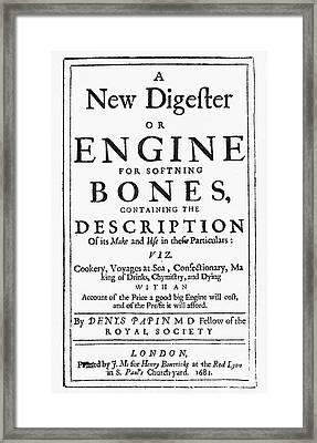 Title Page Cookbook, 1681 Framed Print