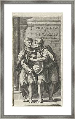 Title Page For A Treatise On Friendship In Ancient Society Framed Print