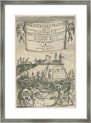 Title Page For Henrich Ruse, Versterckte Fortress Framed Print by Artokoloro