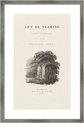 Title Page For Nicolaas Beets, Guy De Vlaming 1837 Framed Print by Henricus Wilhelmus Couwenberg