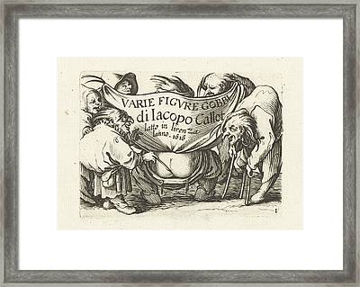 Title Page For Series Several Dwarfs, Varie Figure Gobbi Di Framed Print